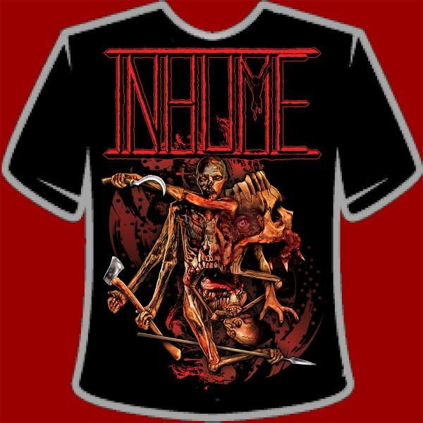 "Inhume ""Contorted Carnage"" T-Shirt (2009) on Relapse Records"